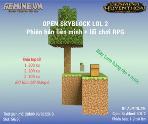 Open Server Skyblock LOL 2